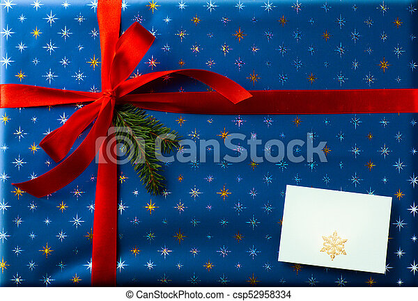 Christmas holidays surprise; Christmas greeting card background - csp52958334