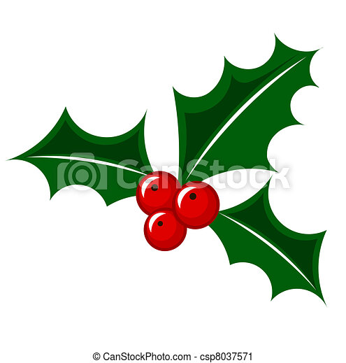 christmas holly berry holly berry christmas decorative vector rh canstockphoto com  holly berry leaves clip art