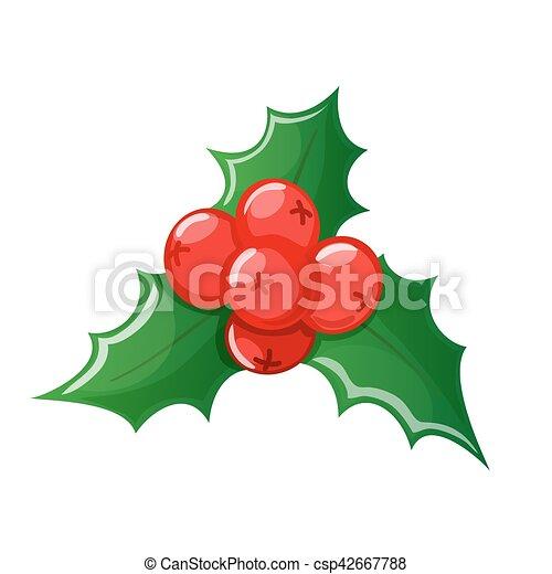 Christmas Holly Vector.Christmas Holly