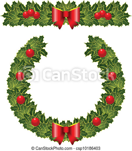 Christmas Holly Wearth The Garland And