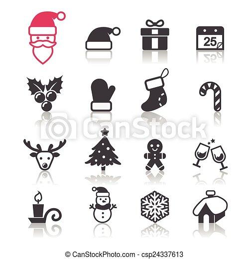 christmas icon - csp24337613