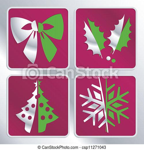 christmas icons - csp11271043