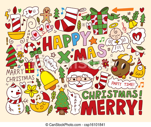 Christmas Icons Objects Collection - csp16101841