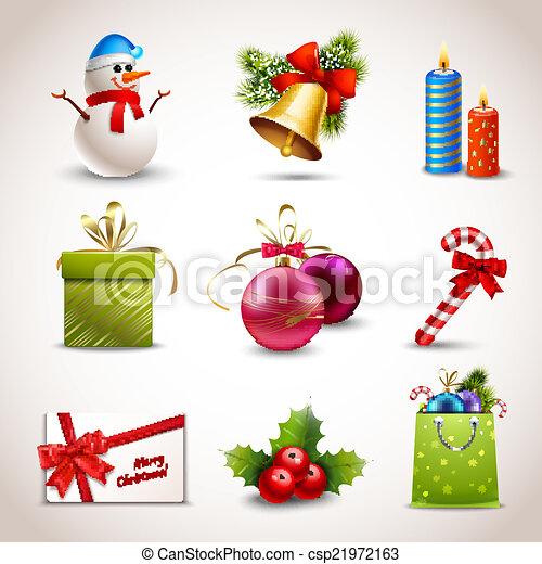 Christmas icons set - csp21972163