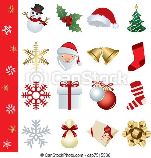 Christmas icons set - csp7515536