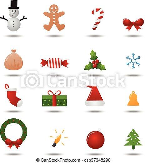 Christmas icons set - csp37348290