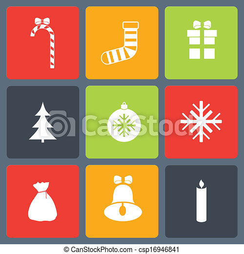 Christmas icons set - csp16946841
