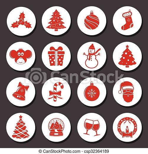 Christmas Icons Set - csp32364189