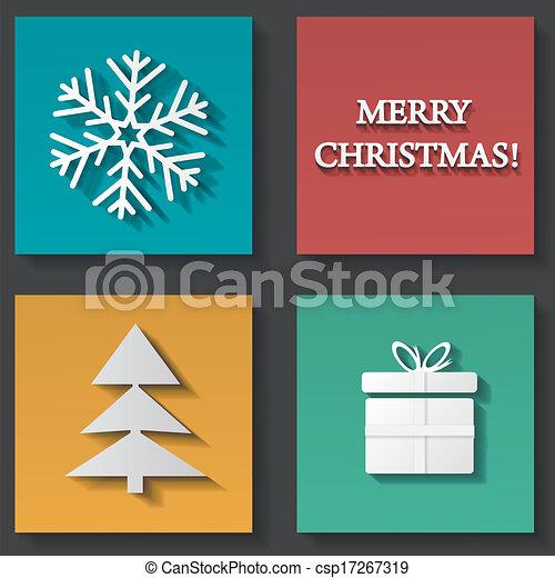 Christmas icons set - csp17267319