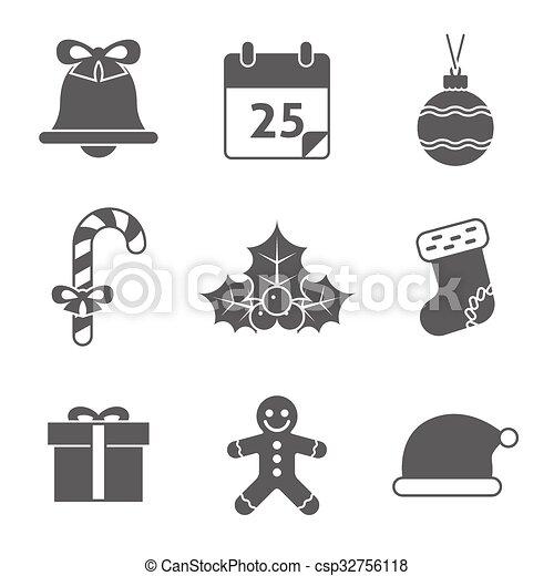 Christmas Icons Set - csp32756118