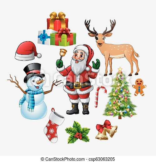 Christmas icons set - csp63063205