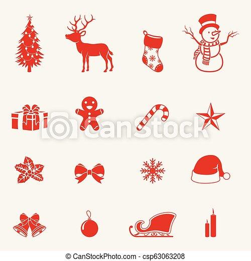 Christmas icons set - csp63063208