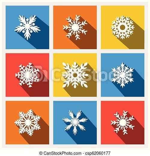 Christmas icons set vector - csp62060177