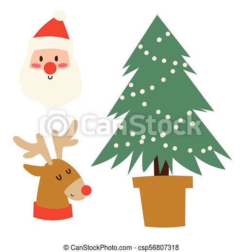 Christmas Holidays Icon.Christmas Icons Vector Symbols For Greeting Card Winter New Year Celebration Design
