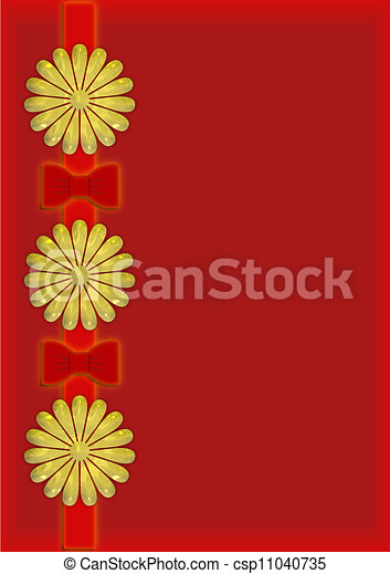 Christmas illustration red and gold - csp11040735