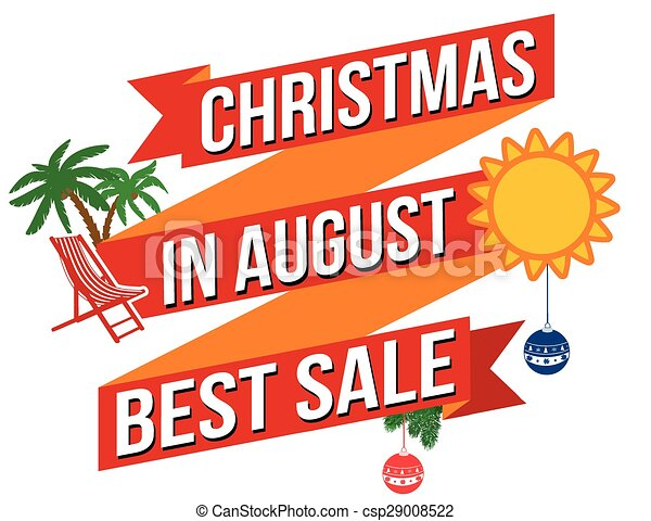 Christmas In August Clipart.Christmas In August Banner Design