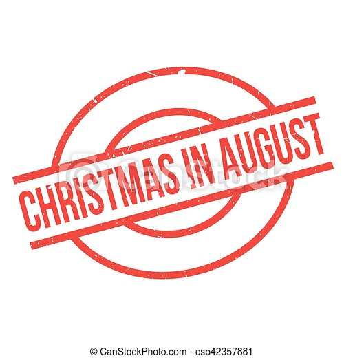 Christmas In August Clipart.Christmas In August Rubber Stamp