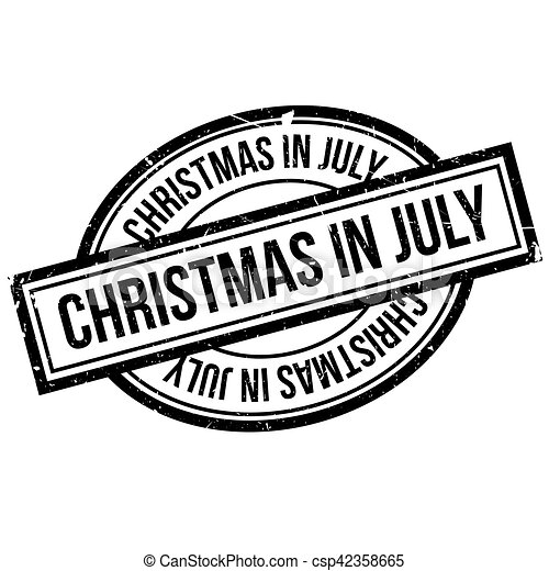 Christmas In July Clipart Black And White.Christmas In July Rubber Stamp