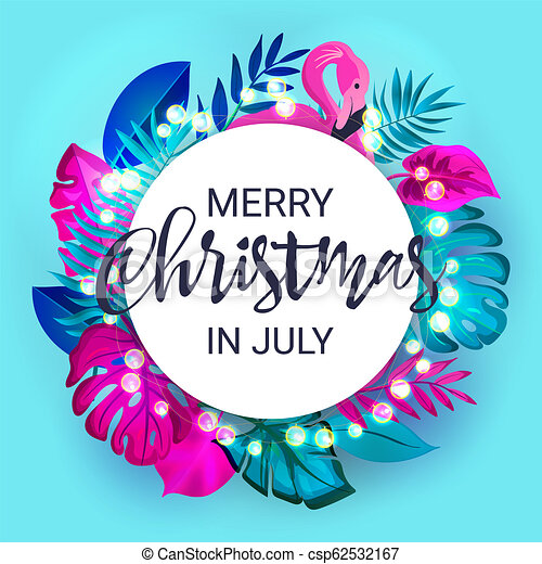 Christmas In July Free Graphics.Christmas In July Sale Marketing Template Eps 10 Vector