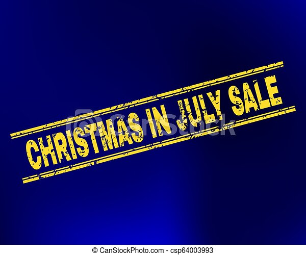 Christmas In July Royalty Free Images.Christmas In July Sale Scratched Stamp Seal On Gradient Background