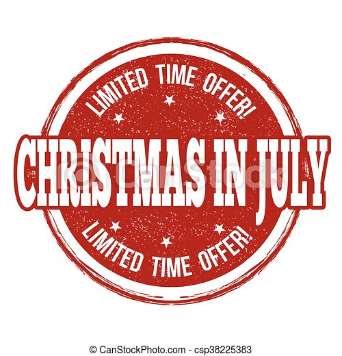 Christmas In July Background Images.Christmas In July Stamp