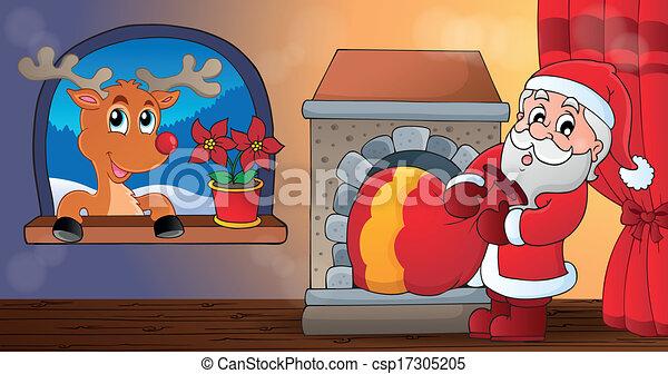 Christmas indoor theme 9 - csp17305205