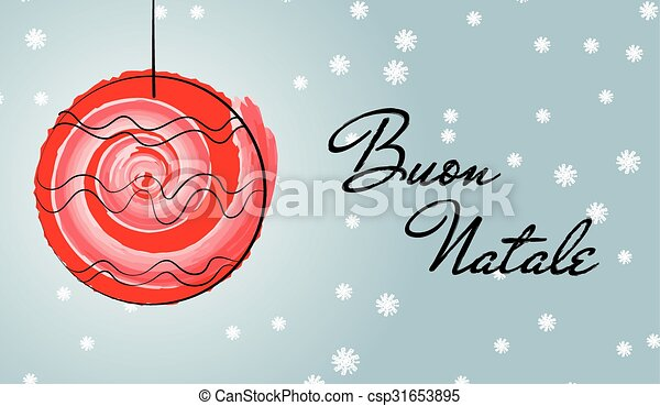 Christmas italian greetings card with red ball drawn with watercolor christmas italian greetings card wi csp31653895 m4hsunfo