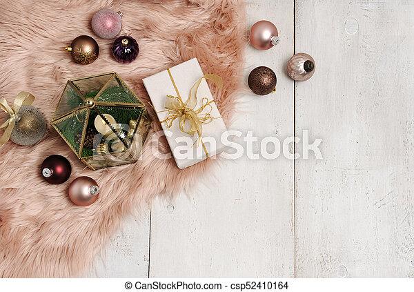 christmas items arrangement - csp52410164