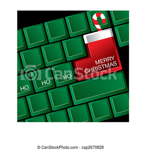 Christmas Keyboard A Computer Keyboard Where The Return Key Is A