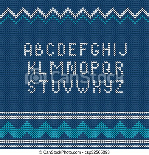 Christmas Knitted Font 1