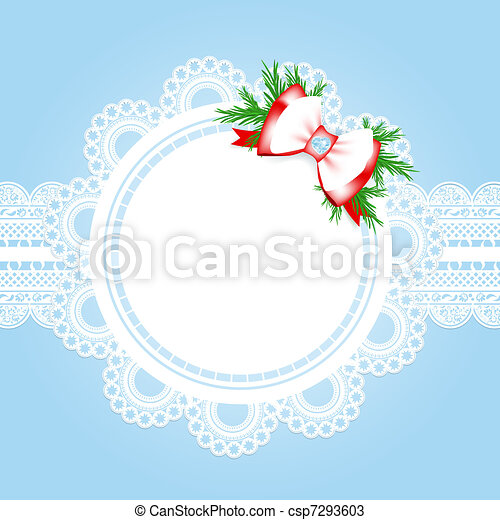 christmas lace frame - csp7293603