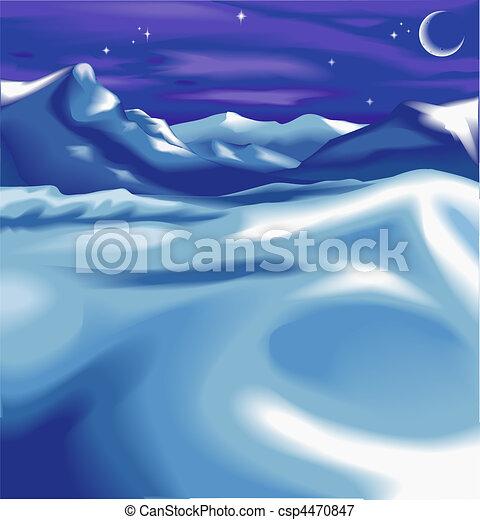 christmas landscape background - csp4470847