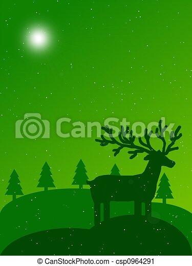 christmas landscape - csp0964291