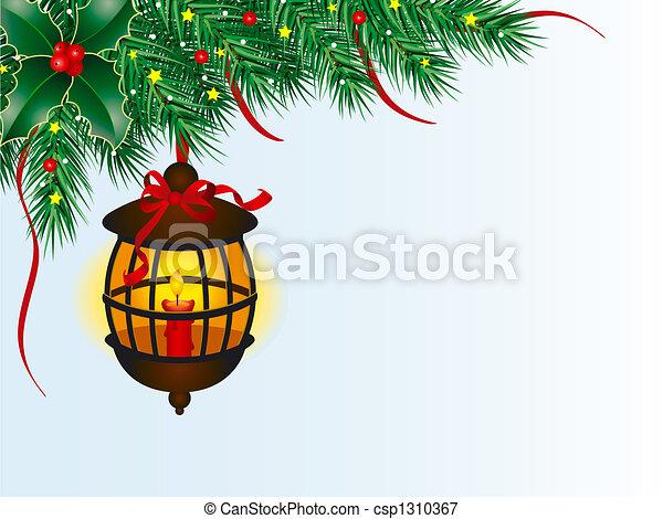 Christmas Lantern Stock Illustration