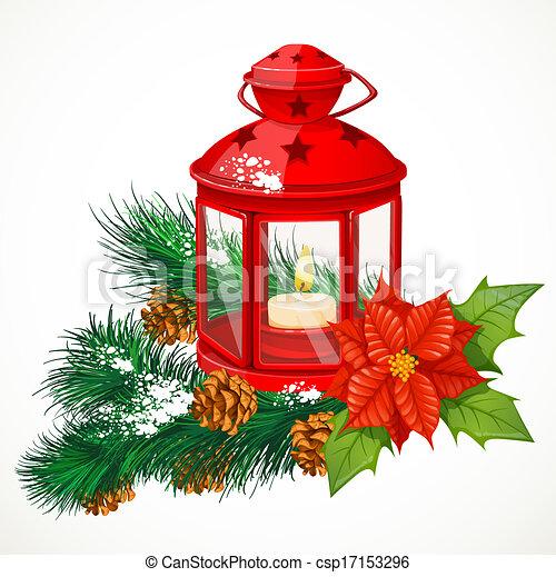 Christmas Lantern.Christmas Lantern With A Candle