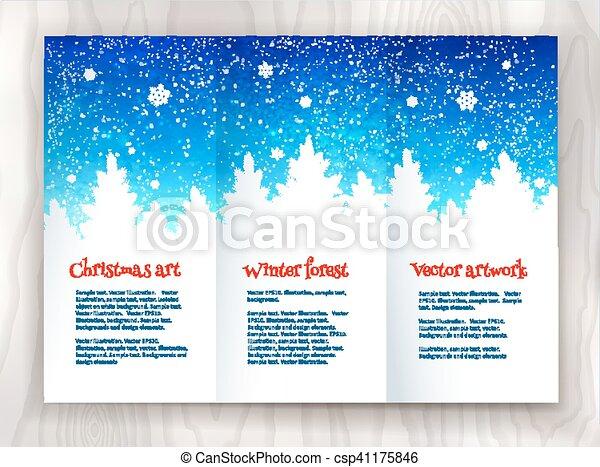 Christmas Leaflet Background.Christmas Leaflet Design Template