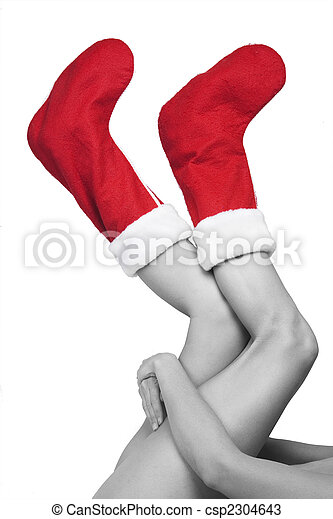 Christmas Legs and Stockings - csp2304643