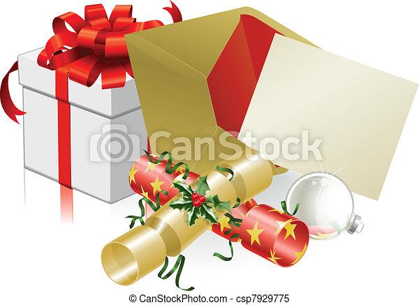 Christmas letter or invite scene - csp7929775