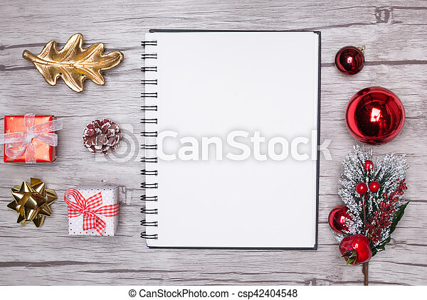 christmas letter writing on white paper with decorations csp42404548 - Christmas Letter Decorations