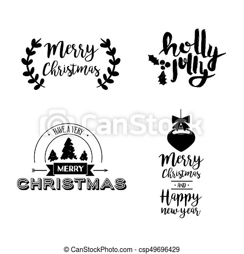christmas lettering holiday season art quote set merry christmas text quote set calligraphy lettering design for holiday https www canstockphoto com christmas lettering holiday season art 49696429 html