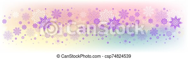 Christmas light colorful design with a set of beautiful snowflakes - csp74824539