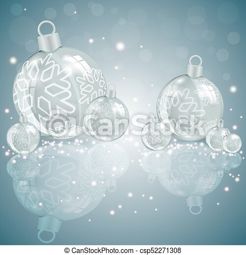 Christmas light design with glass balls - csp52271308
