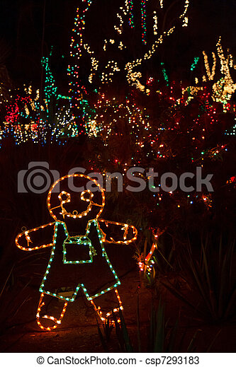 christmas light gingerbread man csp7293183
