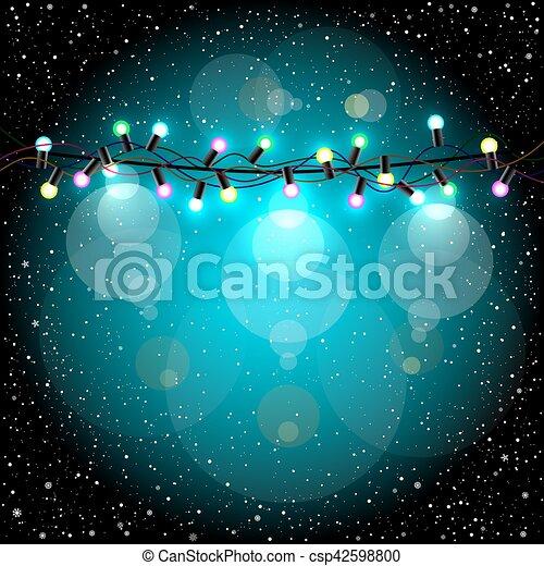 Christmas lights and snow - csp42598800