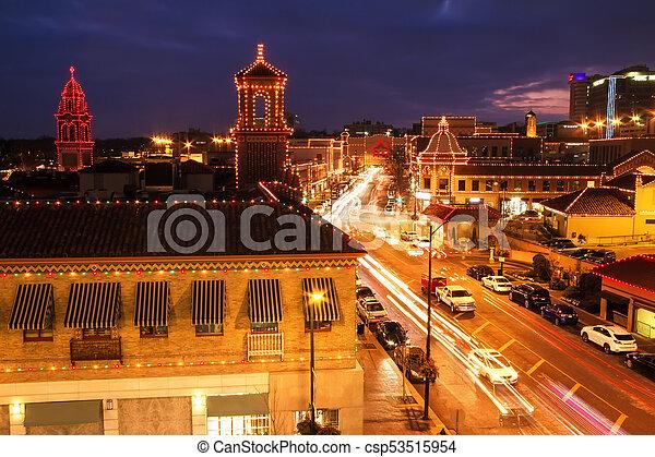 Christmas Lights at Kansas City Country Club Plaza - csp53515954
