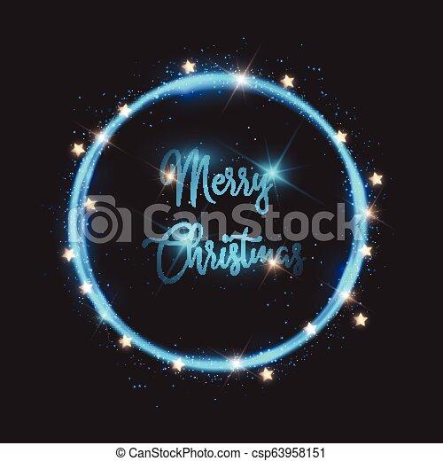 Christmas lights background - csp63958151