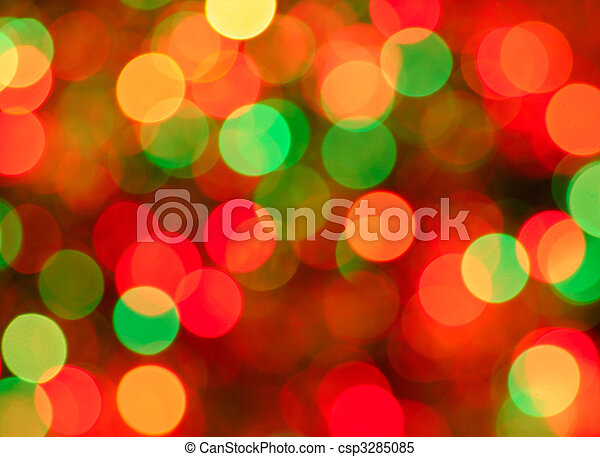 Christmas lights background. Defocused image of      - csp3285085