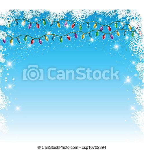 Christmas lights background - csp16702394