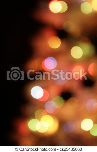 christmas lights background - csp5435060