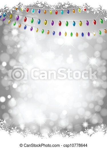 Christmas lights background - csp10778644